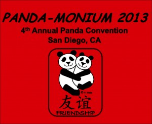 The 2013 T-shirt for Panda-Monium