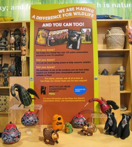 Our gift shops also sell items made to support South America's only bear species.