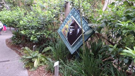 Throughout the San Diego Zoo, exhibits are grouped by bioclimatic zones. This means that animals that live in similar regions in the world, such as the African rainforest, live close to each other at the Zoo. The exhibits come alive with plants native to the region of the world that the animal lives in. For example, Gorilla Tropic has dense jungle tree canopies, which mimics the gorilla's natural habitat.