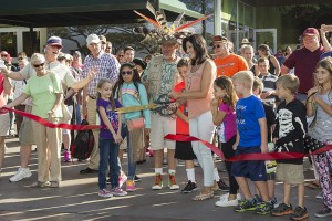 A ribbon cutting marked the first weekend of Kids Free revelry at the San Diego Zoo and the San Diego Zoo Safari Park.