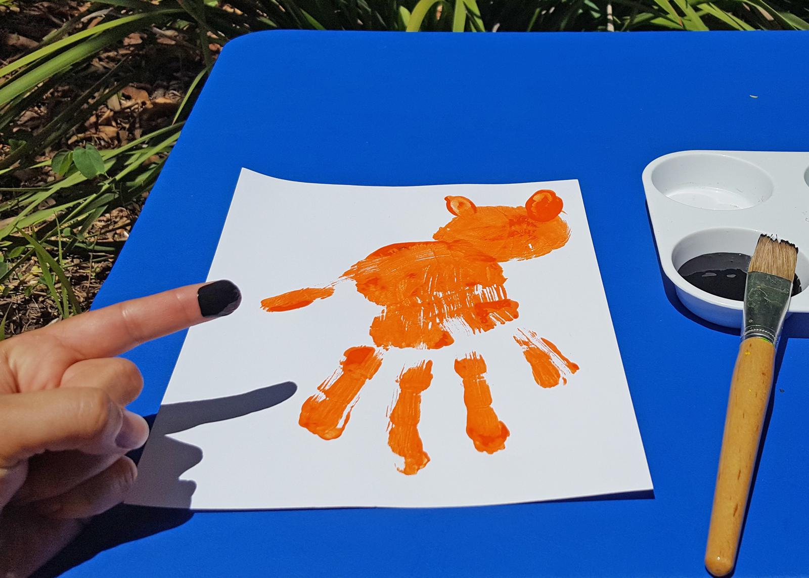 Wild Crafts: Make a Handprint Tiger