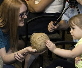 Zoos Bring Animal Kingdom to Patients at St. Vincent Children's Healthcare and Ronald McDonald Charities of Eastern Montana  A young patient is introduced to an armadillo from ZooMontana earlier today (Sept. 16 2016), at a gathering at St. Vincent Children's Healthcare. The special event served to announce a groundbreaking collaboration of the San Diego Zoo, ZooMontana, St. Vincent Children's Healthcare and Ronald McDonald Charities of Eastern Montana, with the arrival of San Diego Zoo Kids.  Funded through a generous gift by businessman and philanthropist T. Denny Sanford, San Diego Zoo Kids is an innovative closed-circuit television broadcast channel that provides family friendly, animal-oriented programming that is both entertaining and educational. The channel is available on TV monitors in every patient room at St. Vincent Children's Healthcare and Ronald McDonald House Charities of Eastern Montana. San Diego Zoo Kids debuted in 2013 at Rady Children's Hospital in San Diego. Since then, it has been installed in 74 children's hospitals and Ronald McDonald Houses in 23 states across the United States, and in three countries.