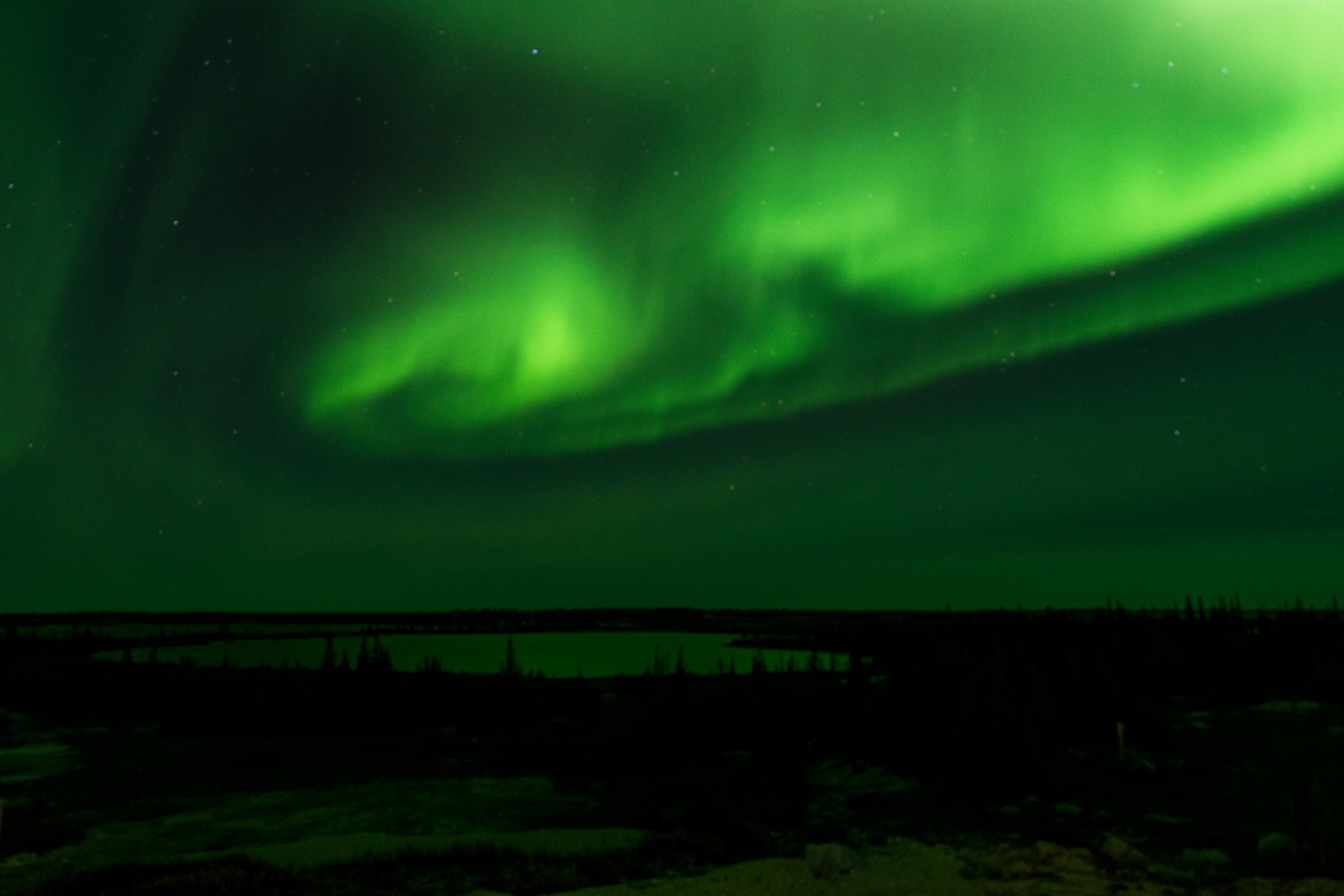 The magnificent aurora borealis observed at the Churchill Northern Studies Centre